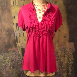Sweet Pink Top By Heart Soul Size XL